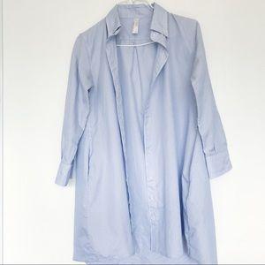 American Apparel blue pinstripe long blouse dress